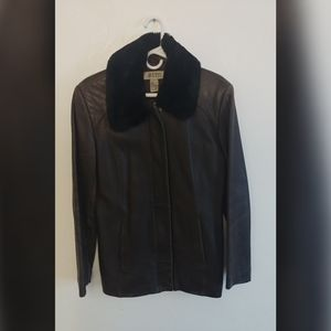 Alfani genuine leather jacket